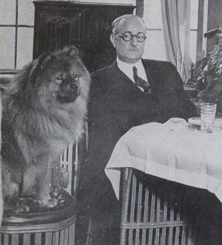 Philip Musica and dog